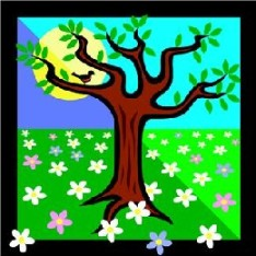 Sparkling Tree & Daisies